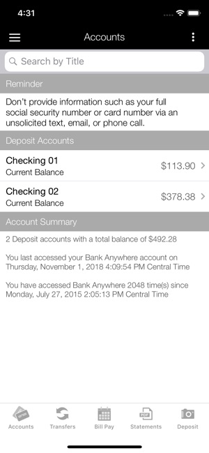 Simmons Bank Anywhere iPhone on the App Store