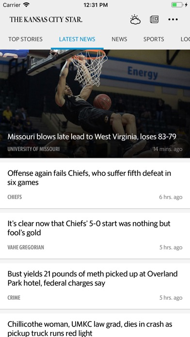 Kansas City Star News review screenshots