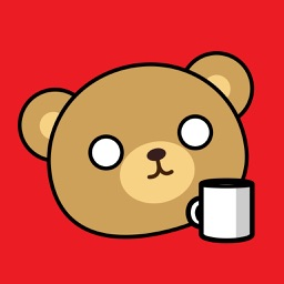 Bear Wired on Coffee Animated Stickers