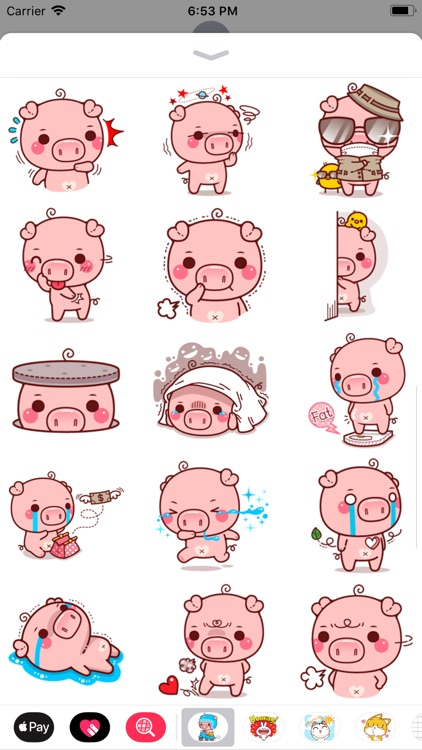 Pinky Pig Sticker screenshot-3