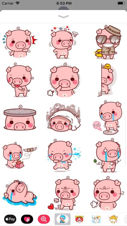 Pinky Pig Sticker screenshot-3