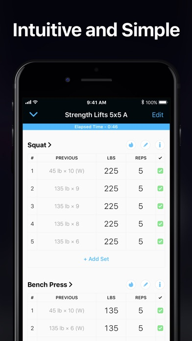 Strong Workout Tracker Gym Log app image