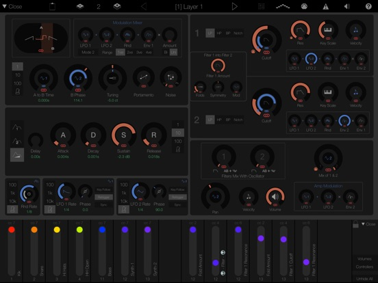 Screenshot #2 for LayR-Multi Timbral Synthesizer
