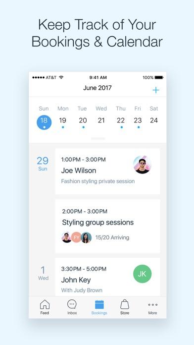 Screenshot 2 for Wix's iPhone app'