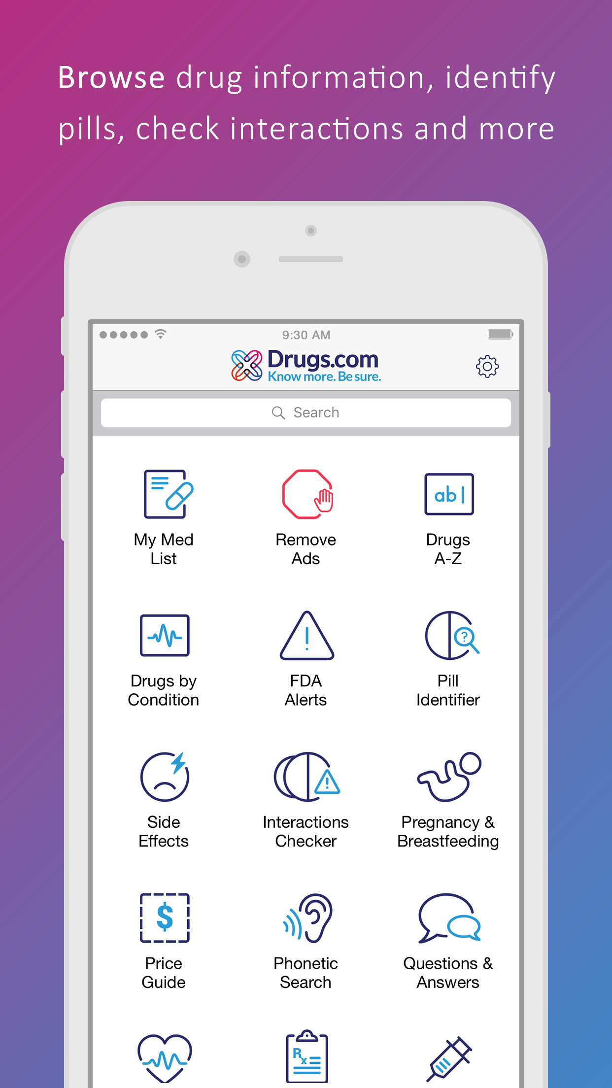 Drugs.com Medication Guide Screenshot