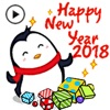 Animated Xmas Penguin Sticker