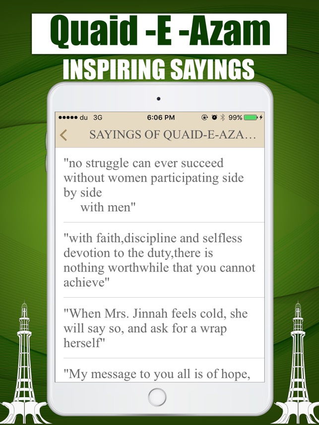 Quaid E Azam Mohammad Ali Jinah Life Quiz Quotes On The App Store