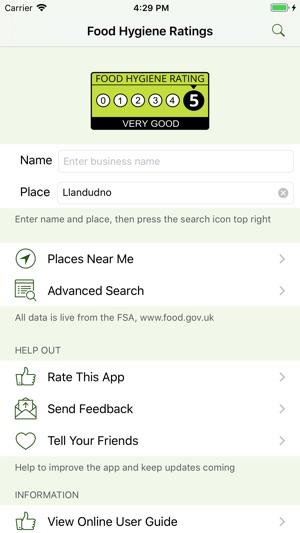 food hygiene ratings uk on the app store