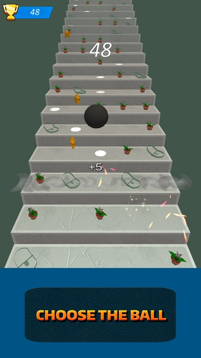 Stairs Running Ball screenshot one