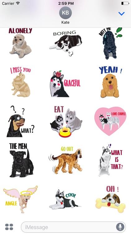 funny dogs emoji & stickers