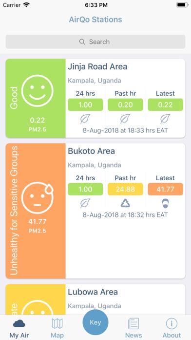 AirQo - air quality monitoring screenshot two