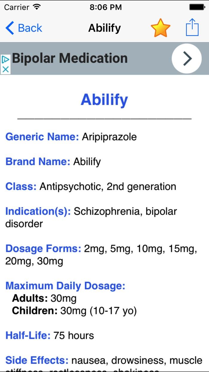 Psych Drugs & Medications: Psychiatric Meds Guide Screenshot