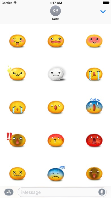 Happy and Sad Face Sticker screenshot 2