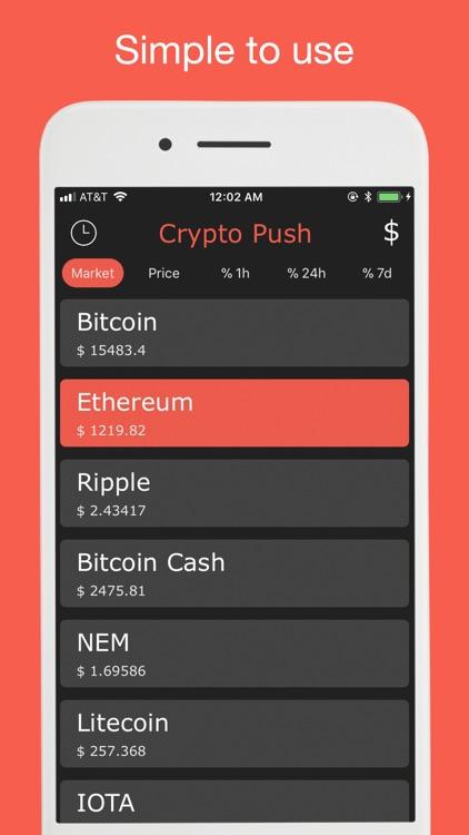 Crypto Push - Price Tracker