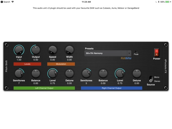 Pitch Shifter AUv3 Plugin screenshot 3