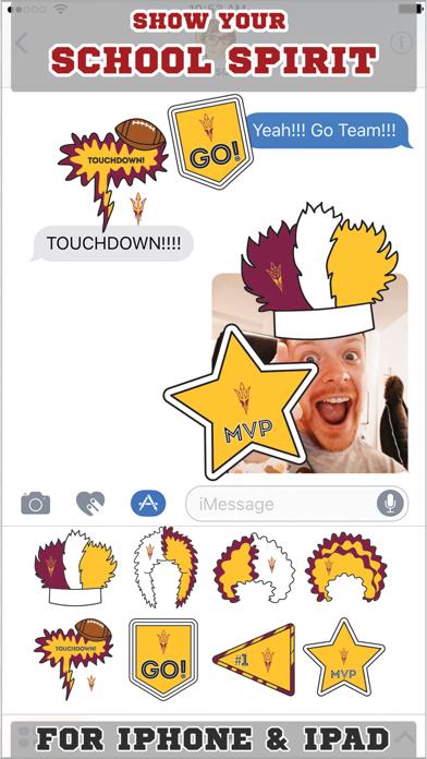 Arizona State Sun Devils Stickers Basic screenshot one