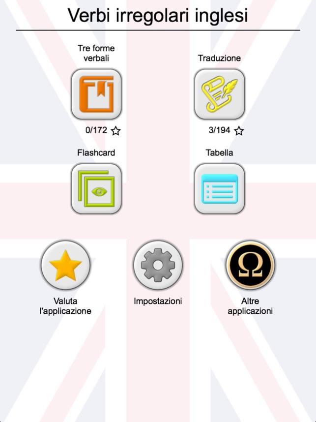Estremamente I verbi irregolari inglesi su App Store XB12