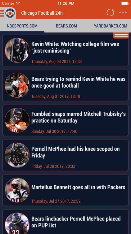 24h News for Chicago Bears