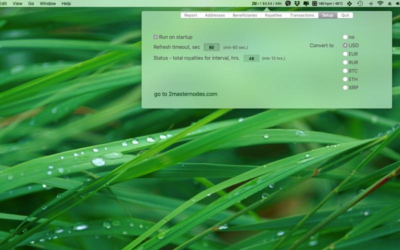 2masternode monitor скриншот программы 6