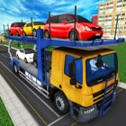 City Car Transporter Trailer icon