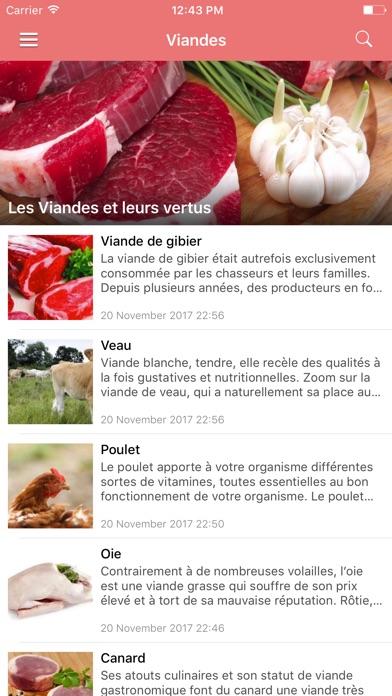Screenshot #3 pour Aliments Santé