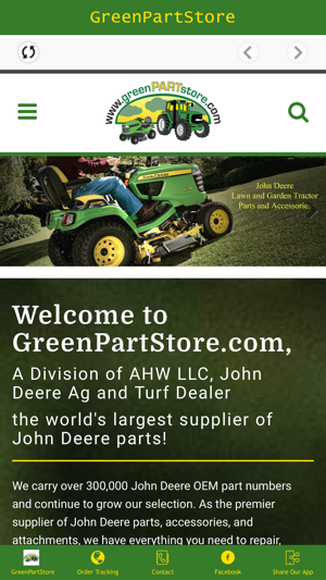 Greenpartstore John Deere Parts And More Parts For >> Greenpartstore On The App Store