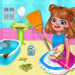 Girls Cleanup House Cleaning
