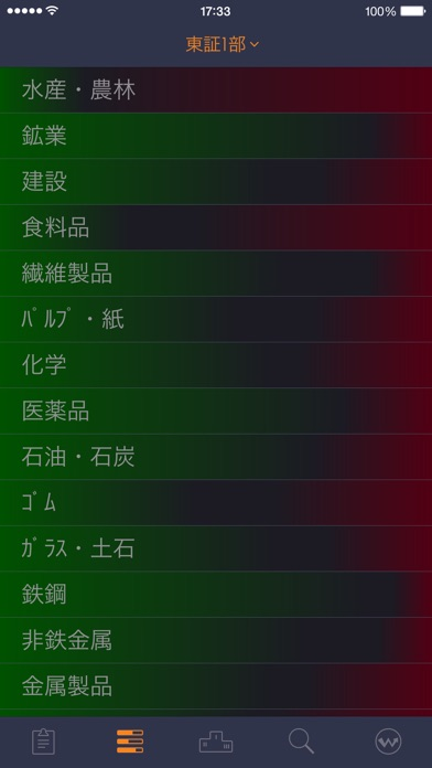 StockWeather - リアルタイム株価スクリーンショット