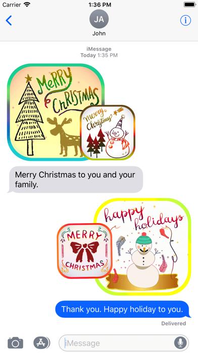 Christmas Card Stickers Pack screenshot four
