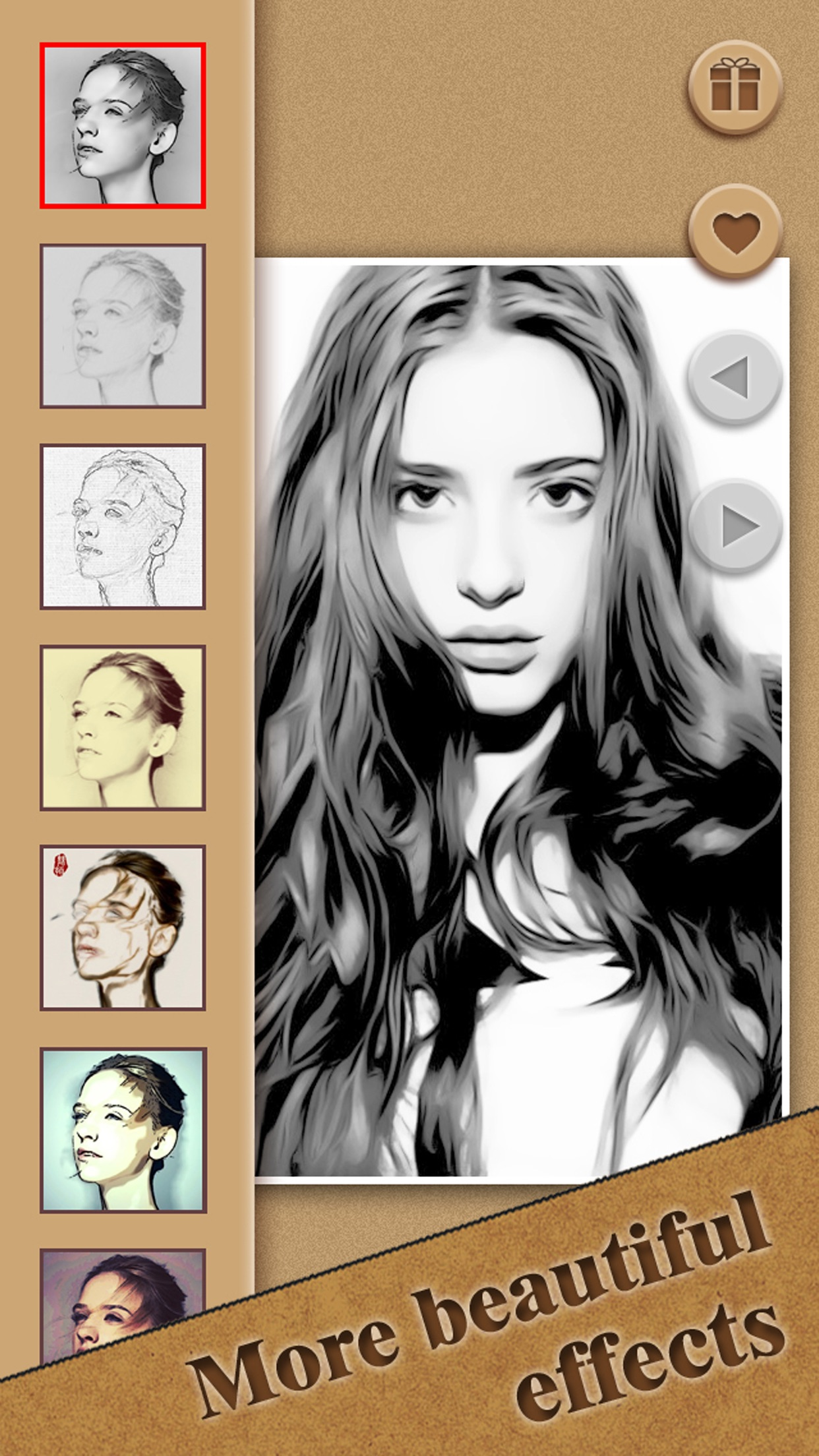 Cartoon Sketch Picture Filters Screenshot