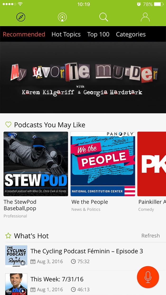 Podbean Podcast App & Player Screenshot