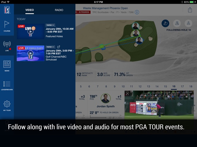 PGA TOUR Mobile Screenshot
