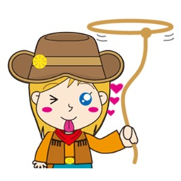 Cute Cowgirl Sticker