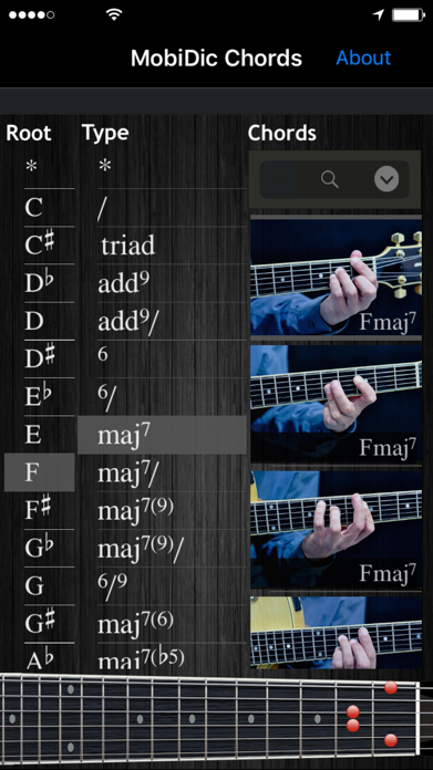 MobiDic - Guitar Chords Screenshot