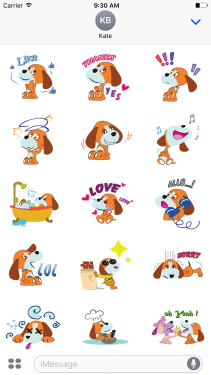 Puppy love emoji stickers