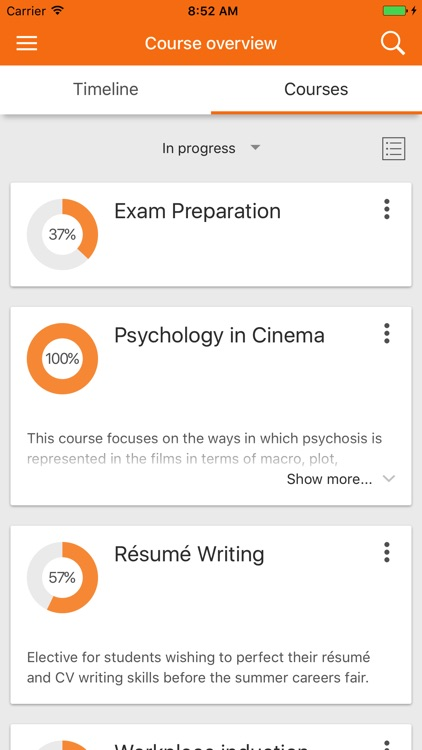 Moodle Mobile screenshot-0