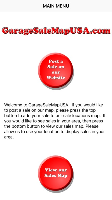 GarageSaleMapUSA screenshot one