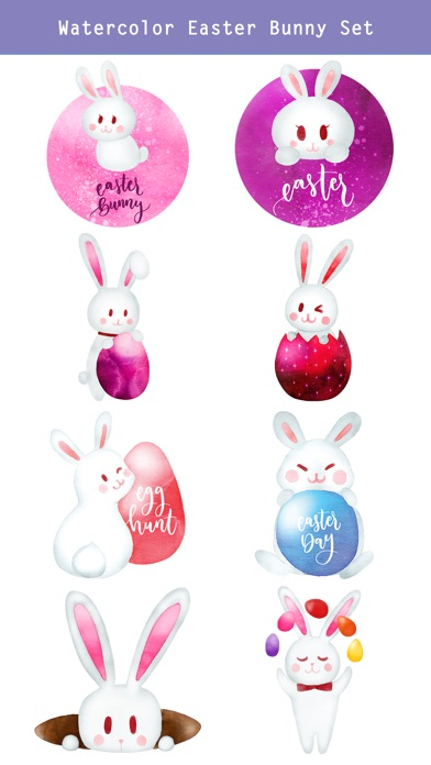 Watercolor Easter Day Stickers screenshot 3