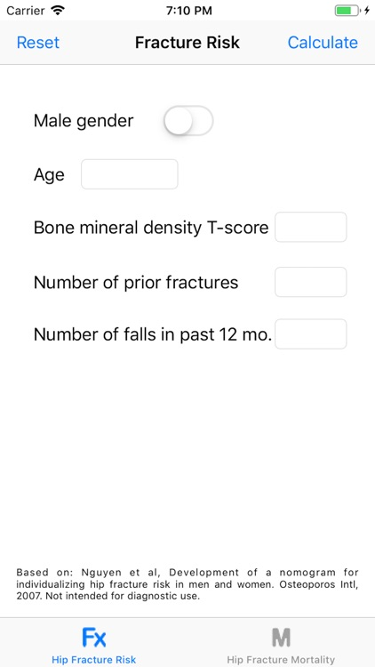 Hip Fracture Risk Calculator