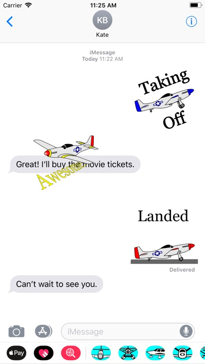 P-51D Mustang Sticker App screenshot-0