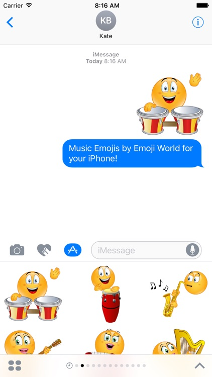 Music Emoji Stickers by Emoji World