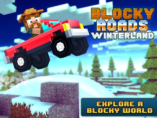 Blocky Roads Winterland iPad app afbeelding 1