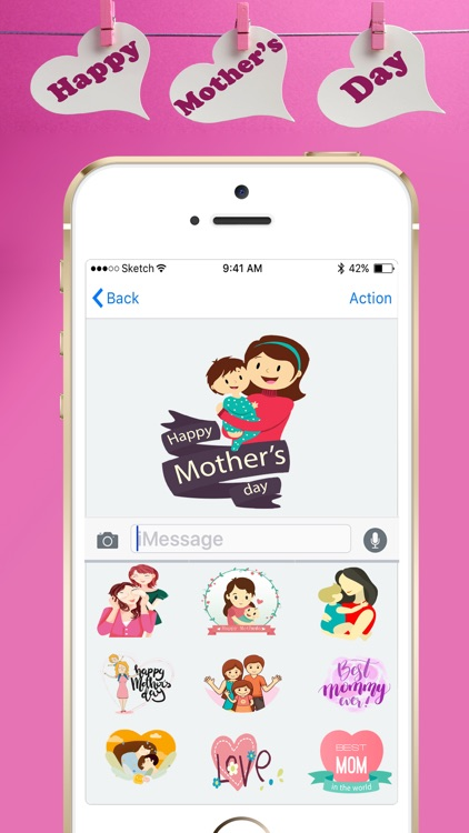 Mothers Day Stickers 2018