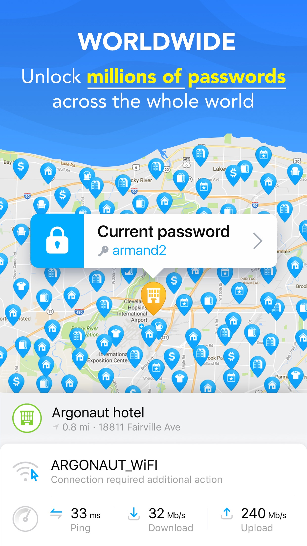 WiFi Map - Scan, Test & Get Fast Internet password Screenshot