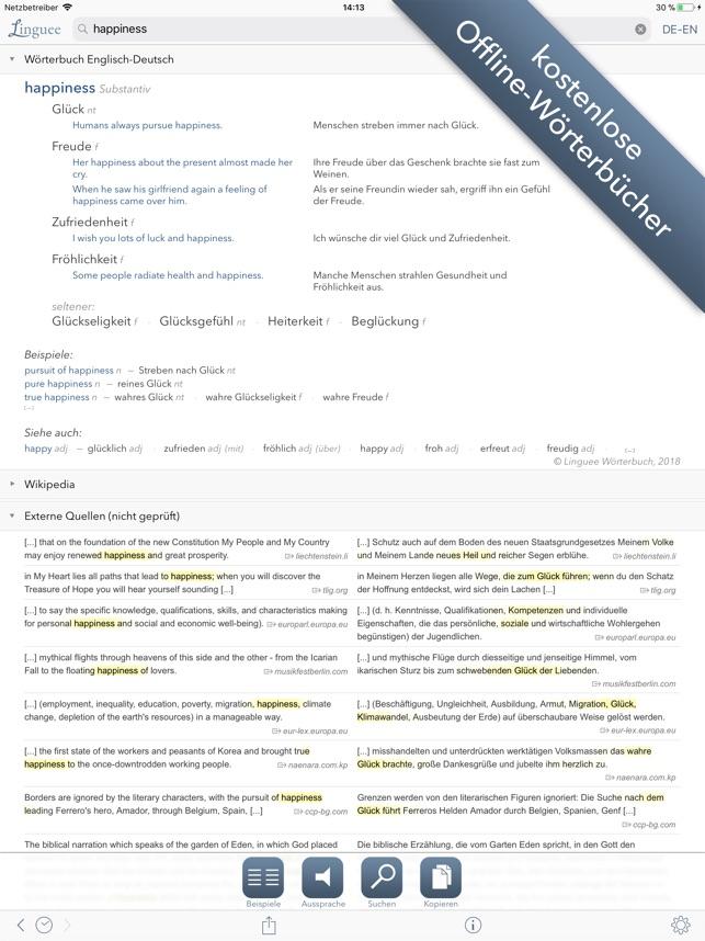 Wörterbuch Linguee Im App Store