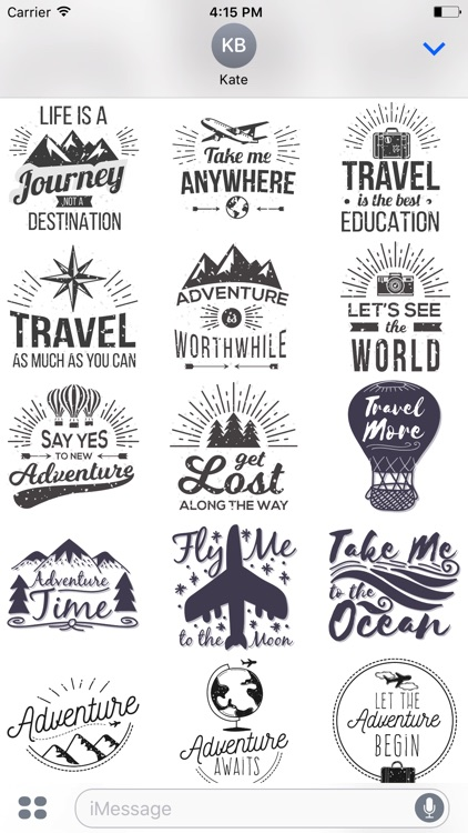 Let's go Travel - Sticker Pack for iMessage screenshot-3