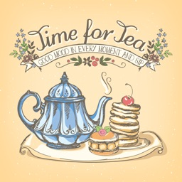 Appetizing Cake & Tea Stickers