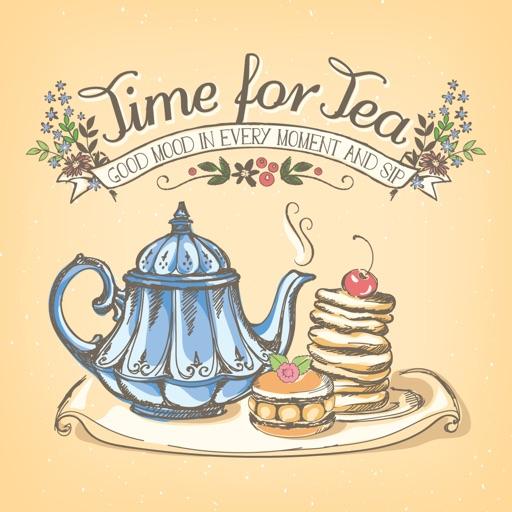 Appetizing Cake & Tea Stickers