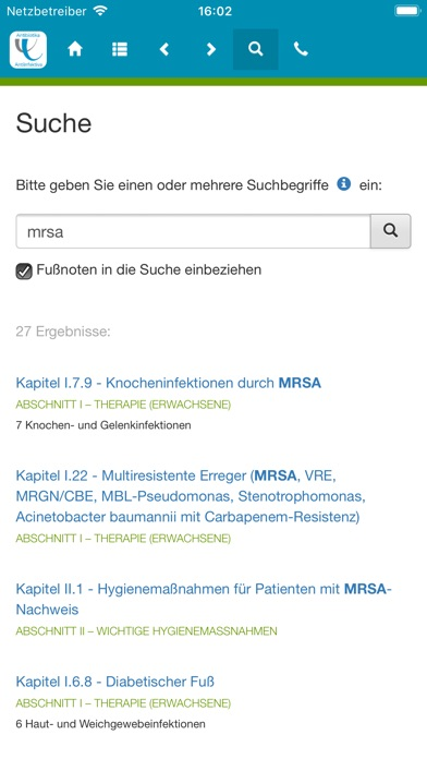 Screenshot for Antibiotika – Antiinfektiva in Germany App Store