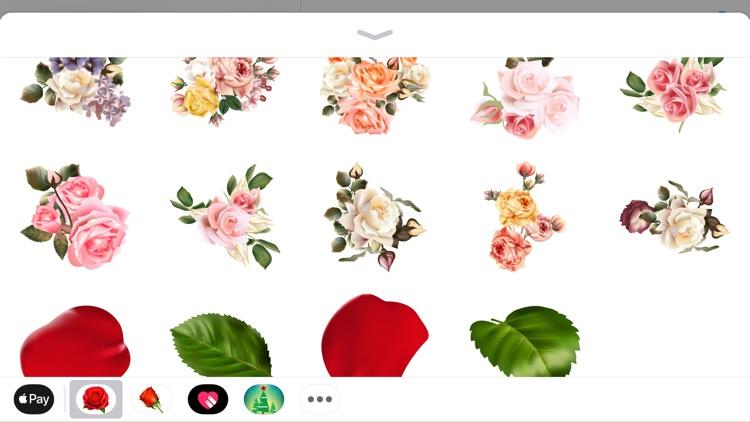 Romantic Roses Sticker Wishes screenshot-3